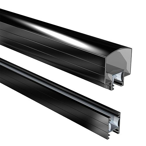 RailBlazers 6 ft. Aluminum Hand and Base Rail in Black