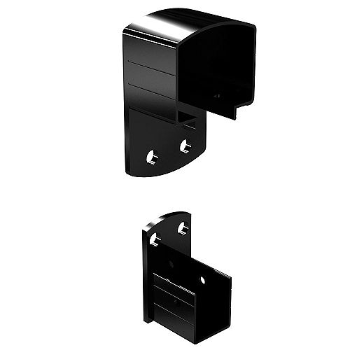Aluminum Wall Mount Bracket in Black