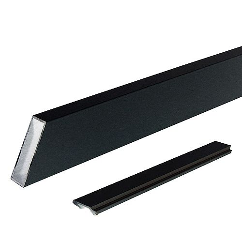 Peak Products Peak Aluminum Railing - Black - Wide Stair Picket and Spacers - Single
