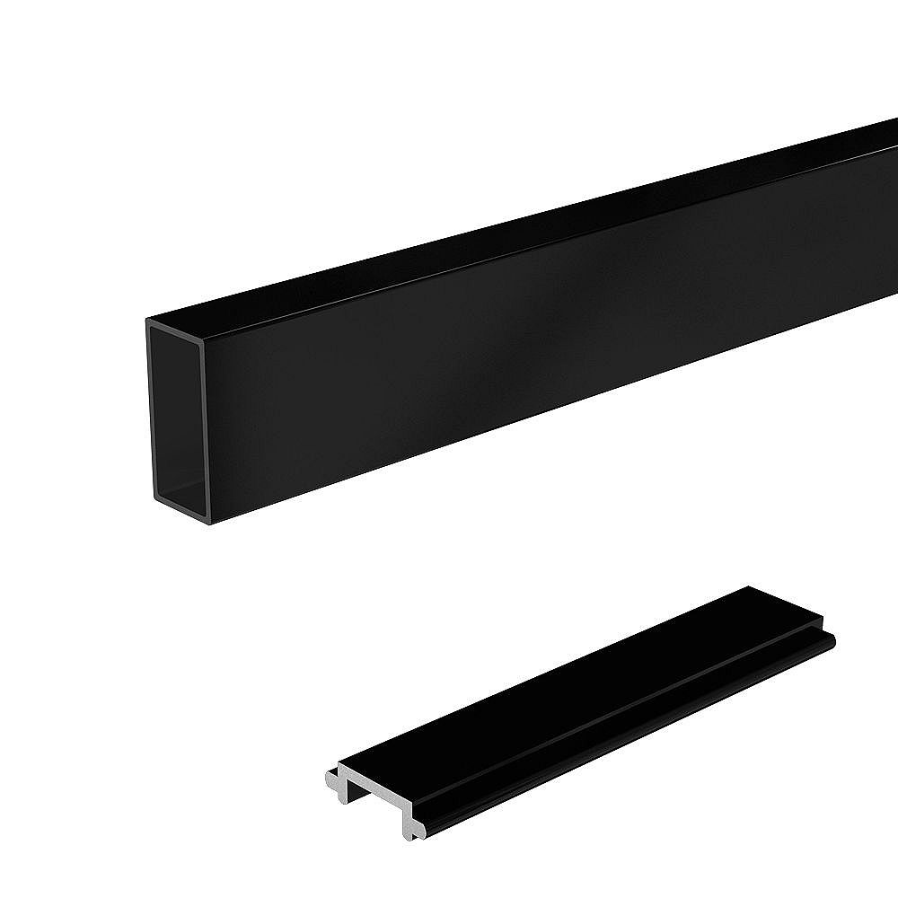 RailBlazers 6 ft. Wide Aluminum Railing Pickets and Spacers in Black