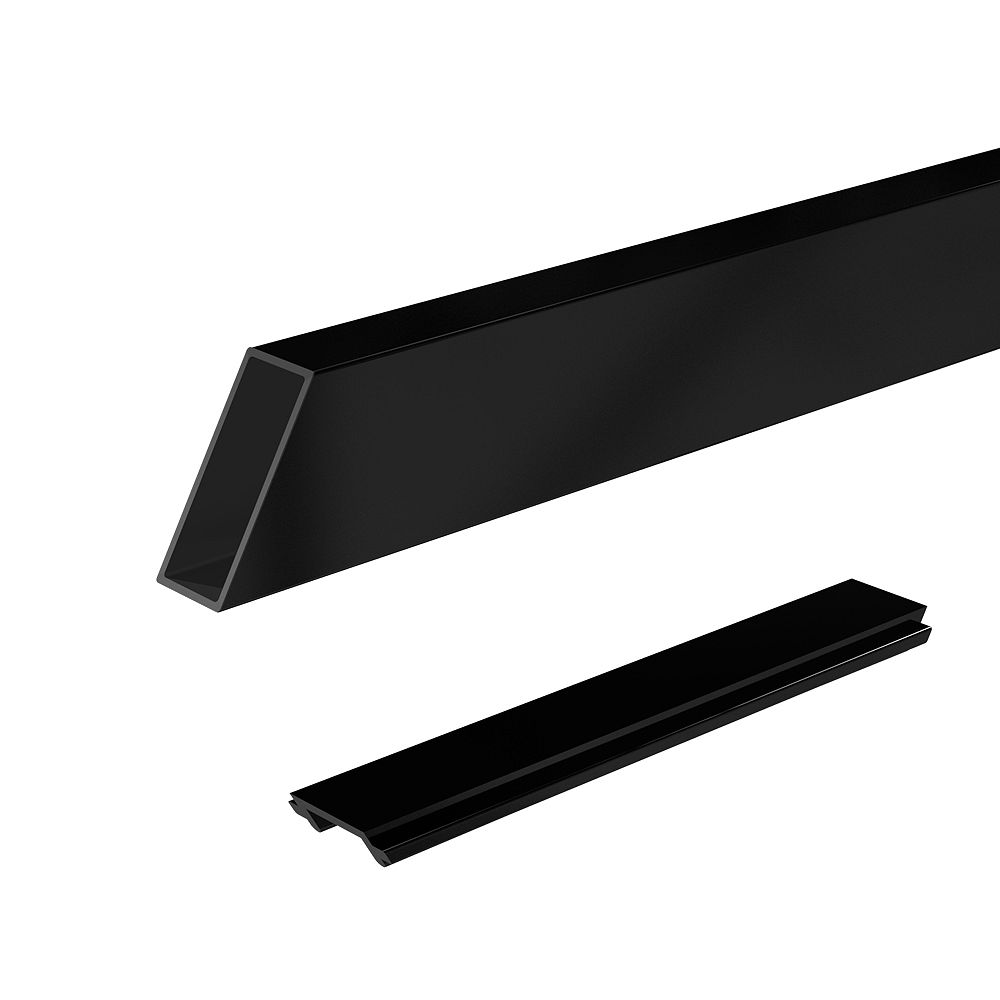 RailBlazers 6 ft. Wide Aluminum Stair Railing Pickets and Spacers in Black