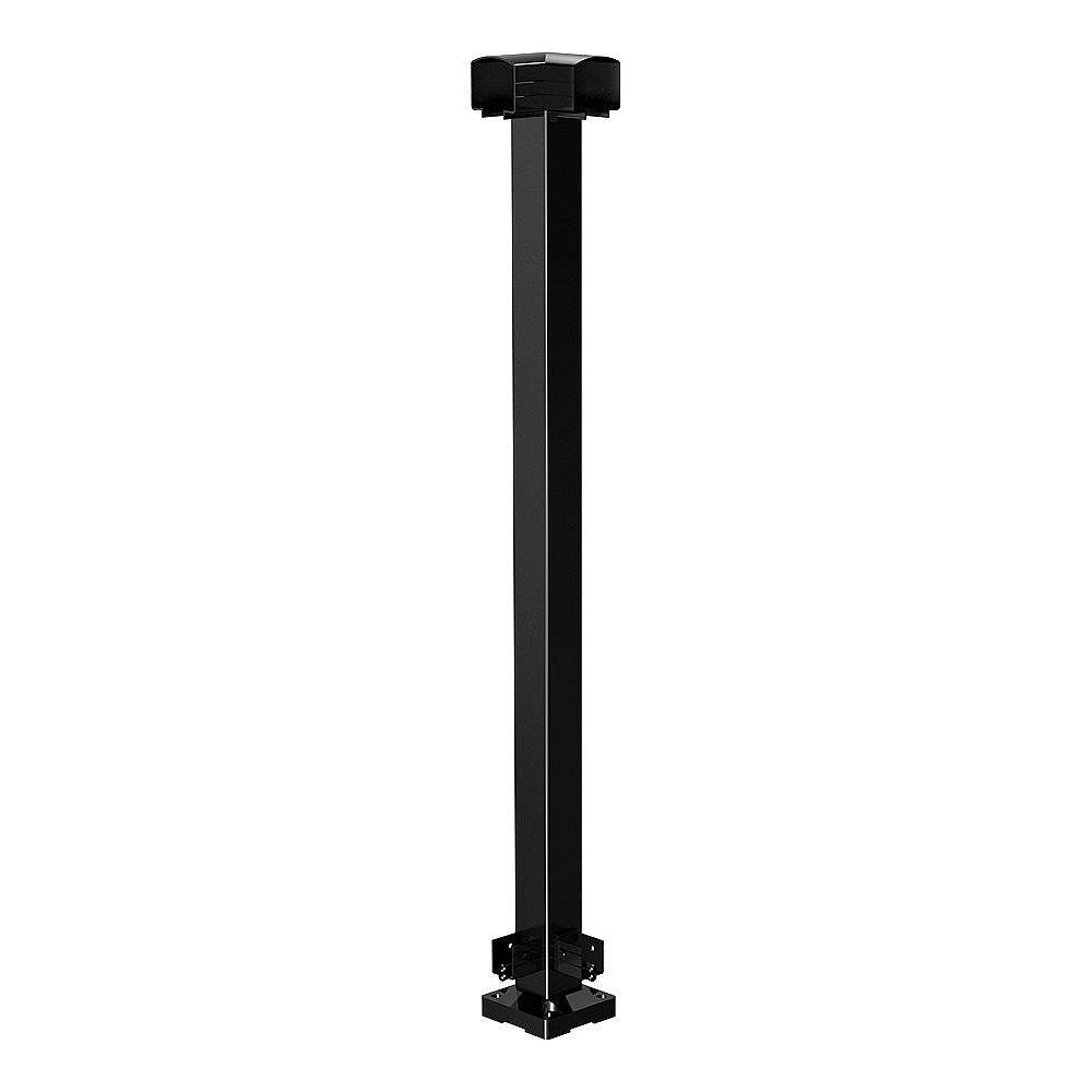 Peak Railblazers 42-inch Aluminum Railing Corner Post in Black