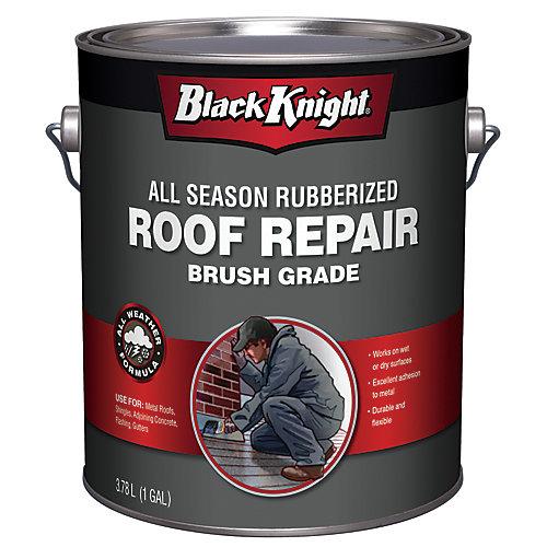 Scellant à base de bitume caoutchouté pour réparation de toiture toutes saisons, 3,78L