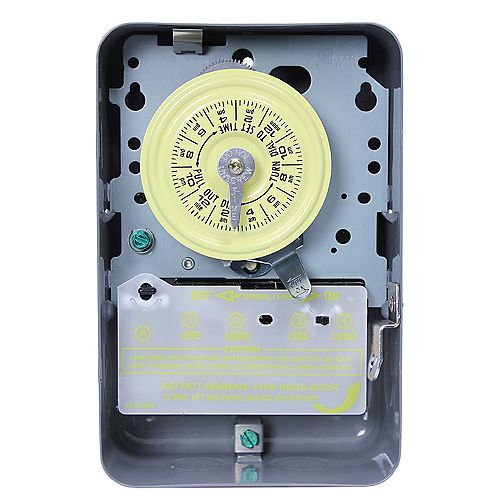 40 Amp 208-277-Volt DPST 24-Hour Mechanical Time Switch with Indoor Enclosure