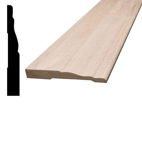 Oak Colonial Base 7/16 inch x 3-1/4 inch