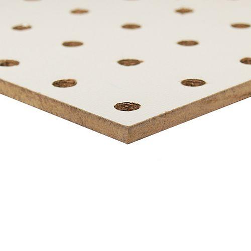 Panneaux Perforés Blanc  _ 1/4 po x 48 po x 48 po