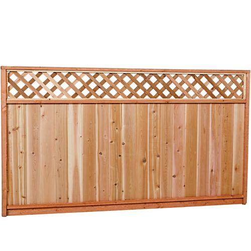 5x8 Premium Cedar Lattice Fence Panel