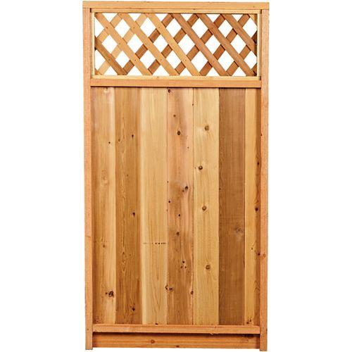 AIM Cedar Works 3 x 5 Porte de clôture avec treillis