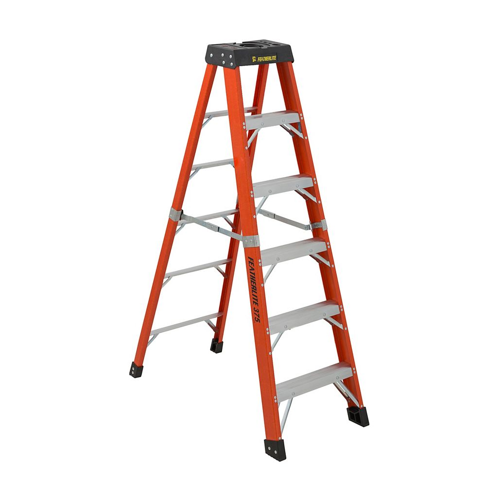Step Ladder Aluminum 5 Foot Large Platform Lightweight Folding Kitchen Garage Cosco