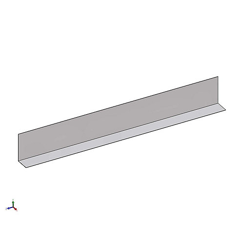 D700  1 1/4 Inch x 1 1/2 Inch Metal Angle Framing Trim 25 Gauge (.018 Mil)
