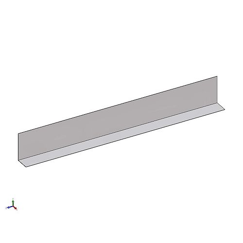 "Bailey Metal Products D700  1 1/4"" x 1 1/2"" Metal Angle Framing Trim 25 Gauge (.018 Mil)"