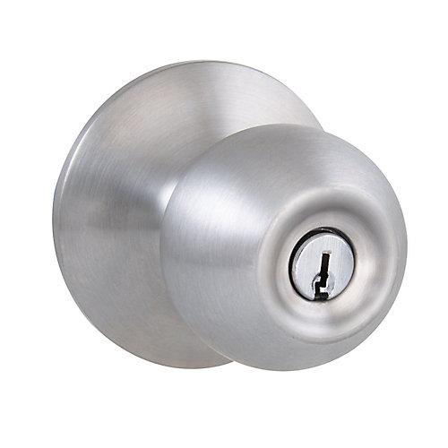Saturn Satin Nickel Entry Door Knob