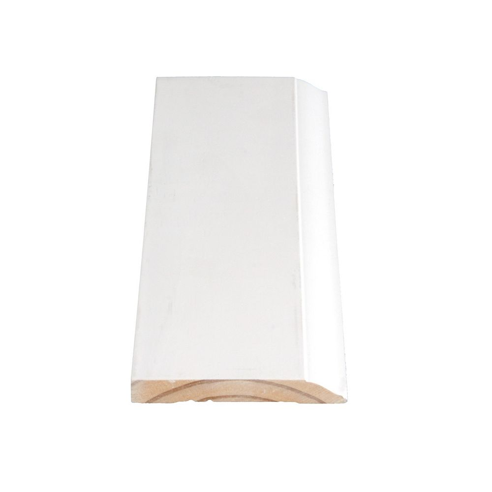 Alexandria Moulding Primed Finger Joint Colonial Base 7/16 In. x 3-1/4 In. (Price per linear foot)