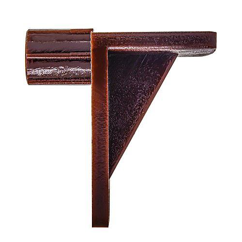 """Support de tablette plastique à angle droit 1/4"""" marron"""