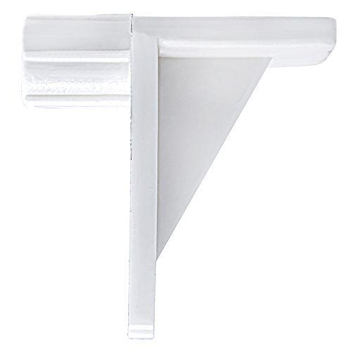 """Support de tablette plastique à angle droit 1/4"""" blanc"""