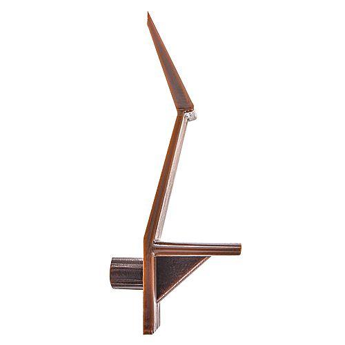 3/4 - 5 mm Support de tablette verrouillable en plastique marron