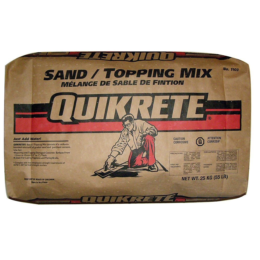 Quikrete Sand Topping Mix 25kg The Home Depot Canada