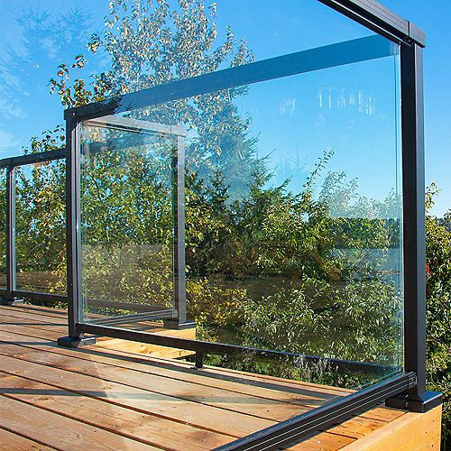 42-inch Tempered Glass Railing Panel