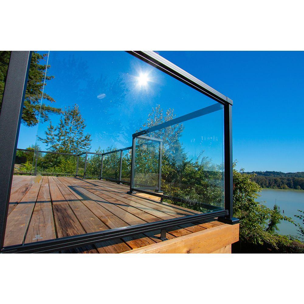 Peak Railblazers Aluminum Deck Railing 42-inch Tempered Glass Panel