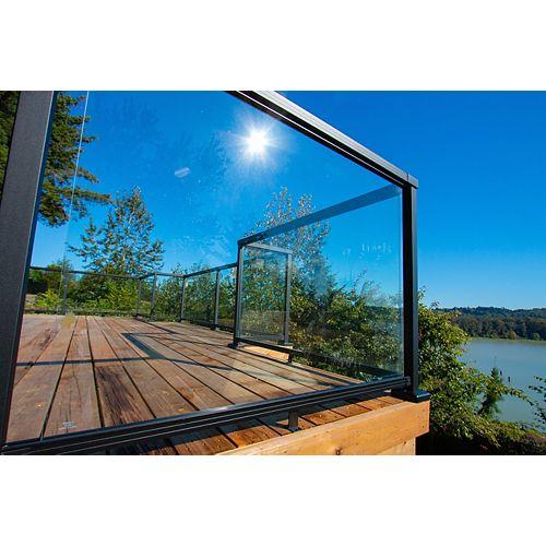 Rampe en aluminium, Rampe en aluminium, panneau de verre trempé 1067 mm