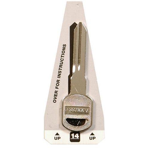 #14 Axxess Key - General Motors Double Sided Key