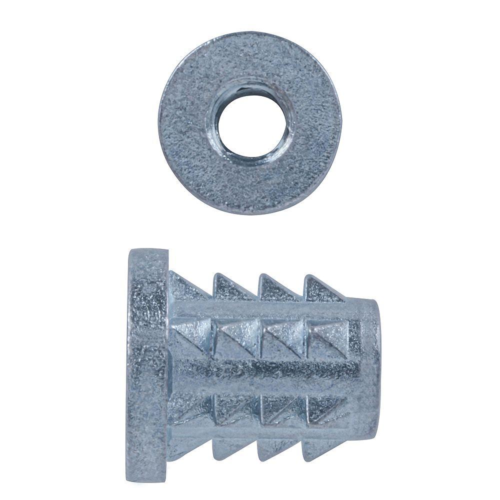 Paulin 1/4-20 Press-inch-Serts Flanged Zinc Plated