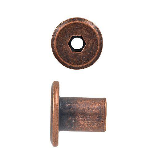 Paulin 1/4-20 x 12mm Connector Cap Nut Antique Bronze