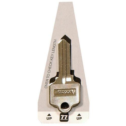 #77 Axxess Key - Schlage Double Sided House Key