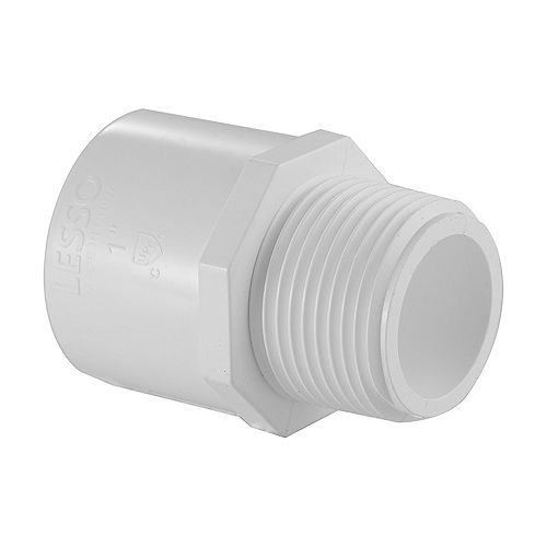 3/4 In. PVC Schedule 40 Male Adapter S x M