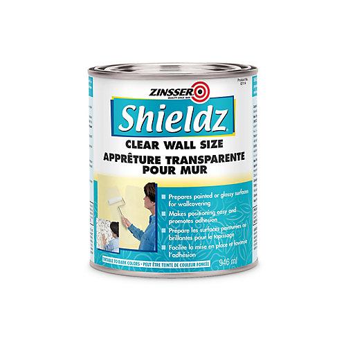 Apprêt acrylique Shieldz pour murs et format en transparent, 946 mL