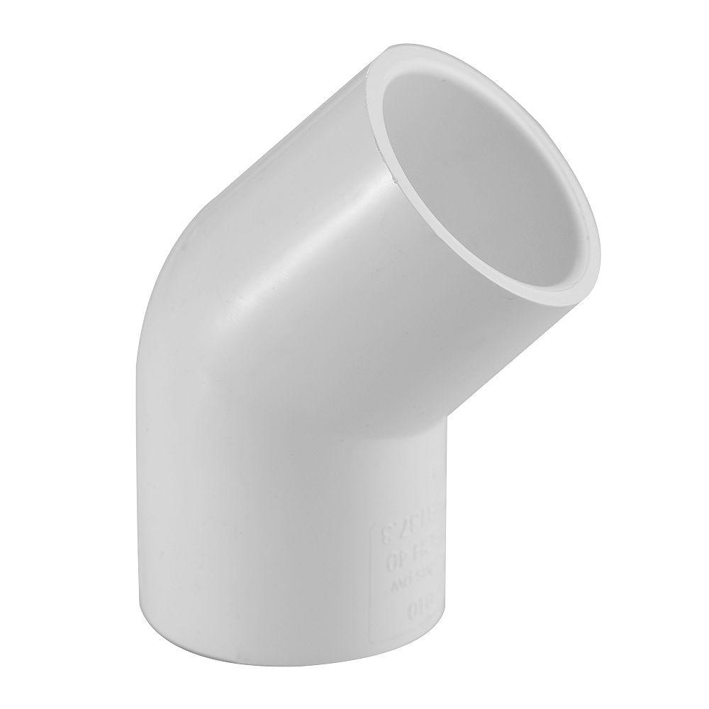 Lesso Pvc 45 Elbow (Soc X Soc) 3/4 inch