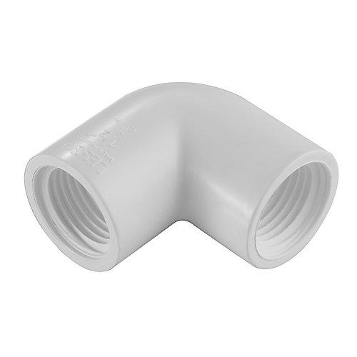 1/2 In. PVC Schedule 40 / 90 Degree Elbow FIPT