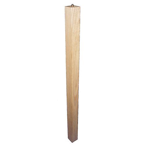 Pied de table Parsons en frêne - 28 - Frêne 15/8 x 15/8 x 28