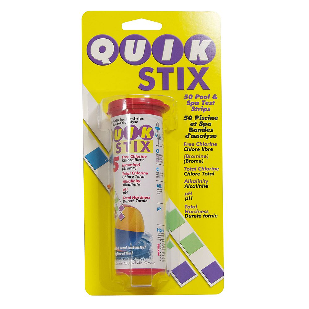 Spa Pure Quik Stix 5 Way Pool And Spa Test Strips The Home Depot Canada