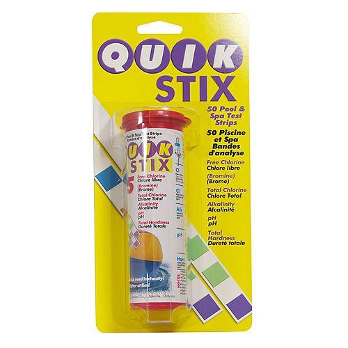 Quik Stix Test Strips 5-voies pour piscines et spas