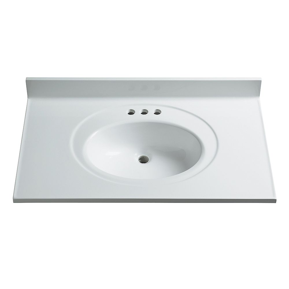 Woodnote 37-Inch W x 22-Inch D Classic Marble Vanity Top ...
