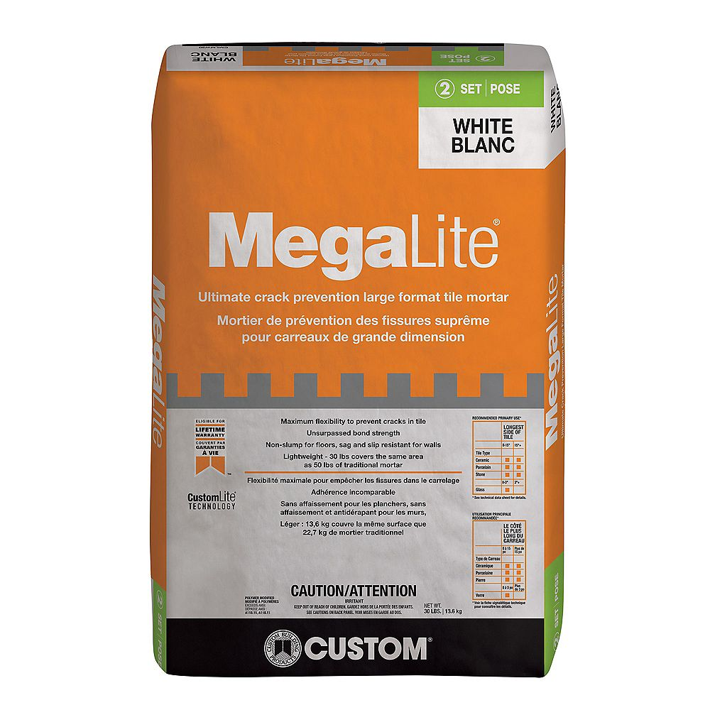 Custom Building Products MegaLite 30 lb. Ultimate Performance Mortar in White