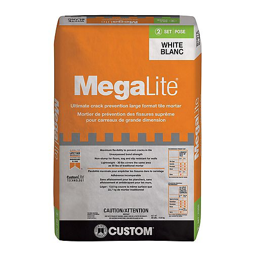 MegaLite 30 lb. Ultimate Performance Mortar in White