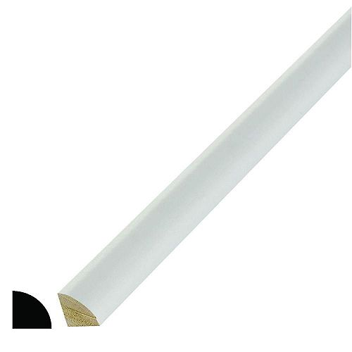 Primed Finger Jointed Pine Quarter Round 11/16-inch x 11/16-inch (Price per linear foot)