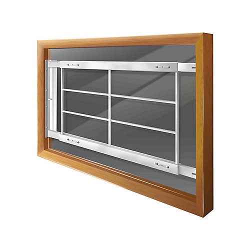 202 D 42-inch to 54-inch W Hinged Window Bar