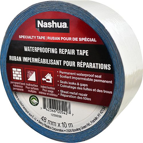 Nashua Tape 1.89 in x 10.9 yd Waterproofing Repair Tape