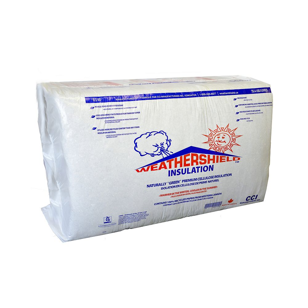WeatherShield Cellulose Fiber Blowing Insulation - 25 lbs.