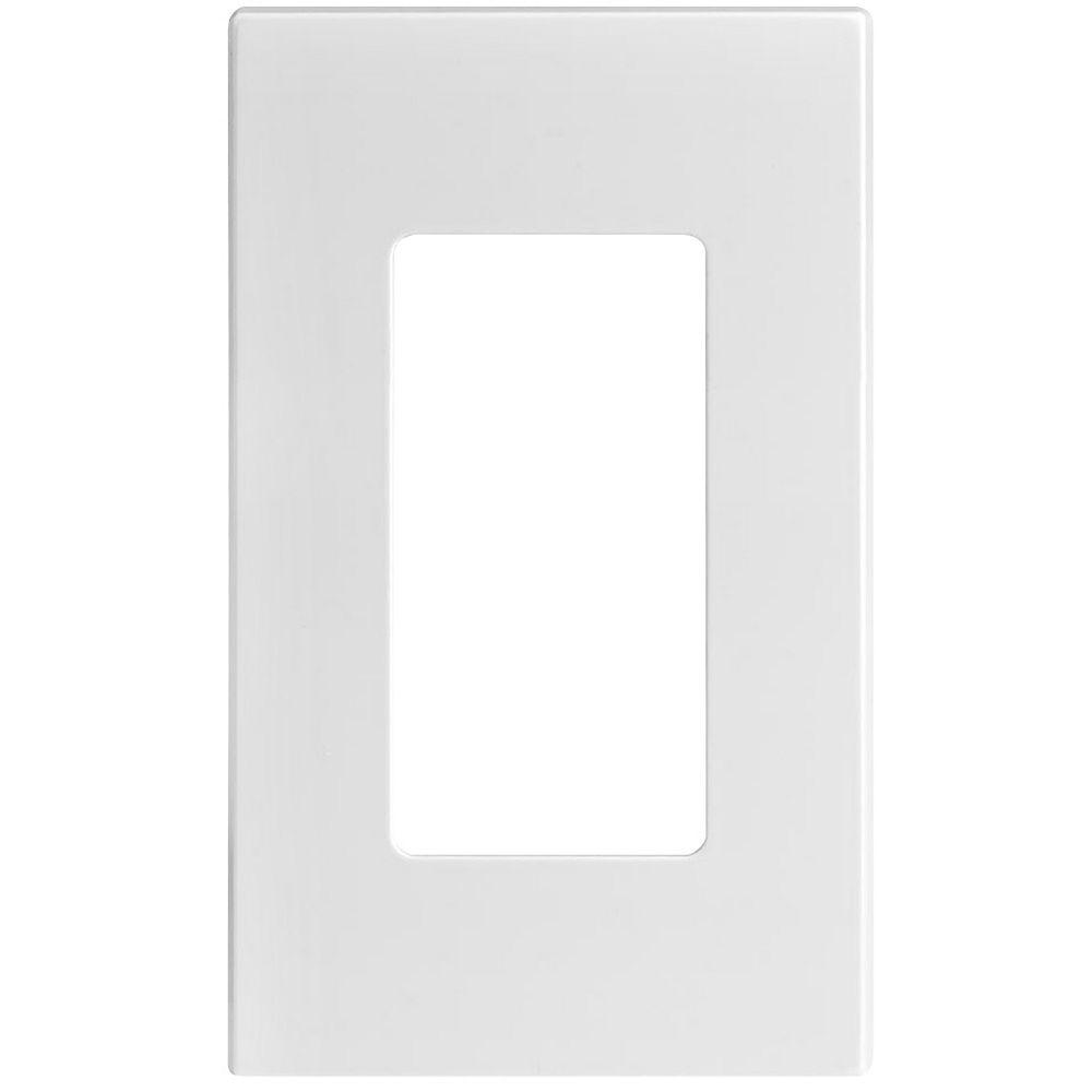 Leviton Plaque Decora Sans Vis, Un Dispositif, Blanc