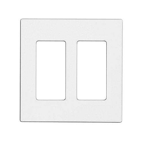 Decora Screwless wall plate 2-Gang, White