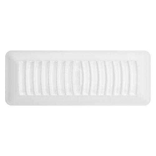 3 inch x 10 inch Plastic Floor Register - White