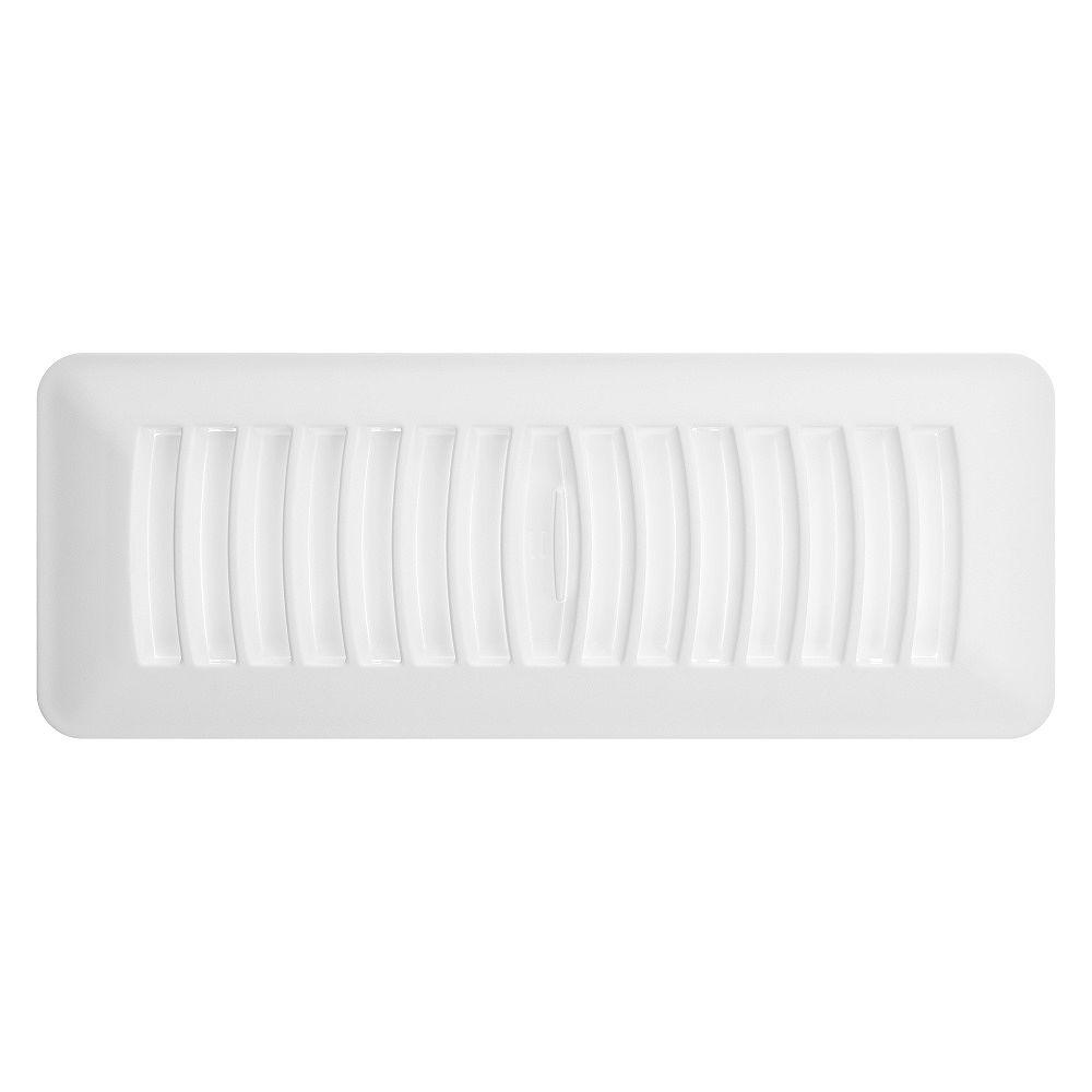 HDX 3 inch x 10 inch Plastic Floor Register - White
