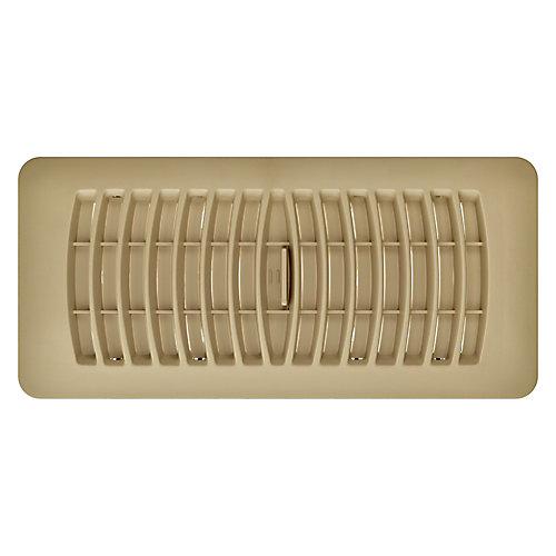 4 inch x 10 inch Plastic Floor Register - Taupe