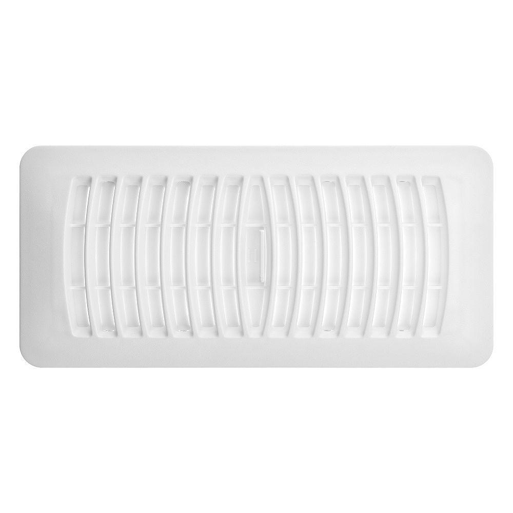 HDX 4 inch x 10 inch Plastic Floor Register - White
