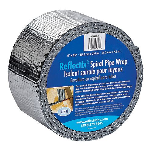 Pipe Wrap 6-inch x25 Ft.
