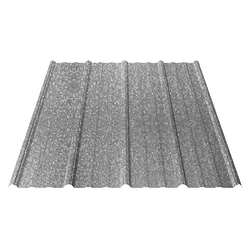 UltraVic 12 Feet Galvanized Metal Roof Sheet 29 Ga